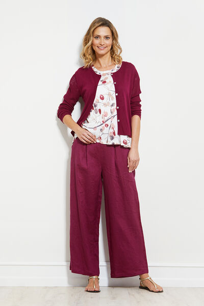 LEANORA CARDIGAN, BEETROOT, hi-res