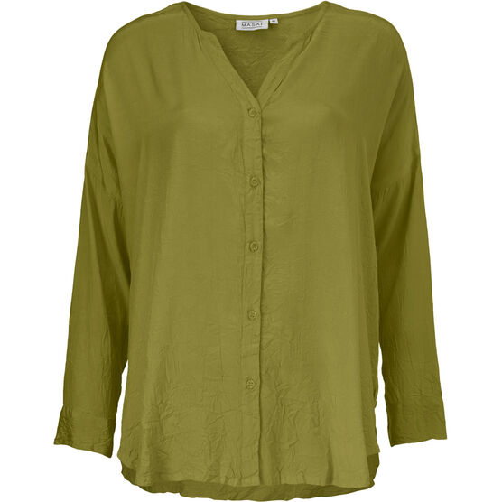 IDALIA BLOUSE, ARMY, hi-res