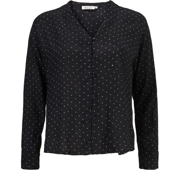 IANA BLOUSE, BLACK, hi-res