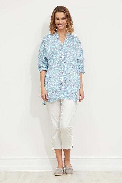 Ife blouse, AQUA, hi-res