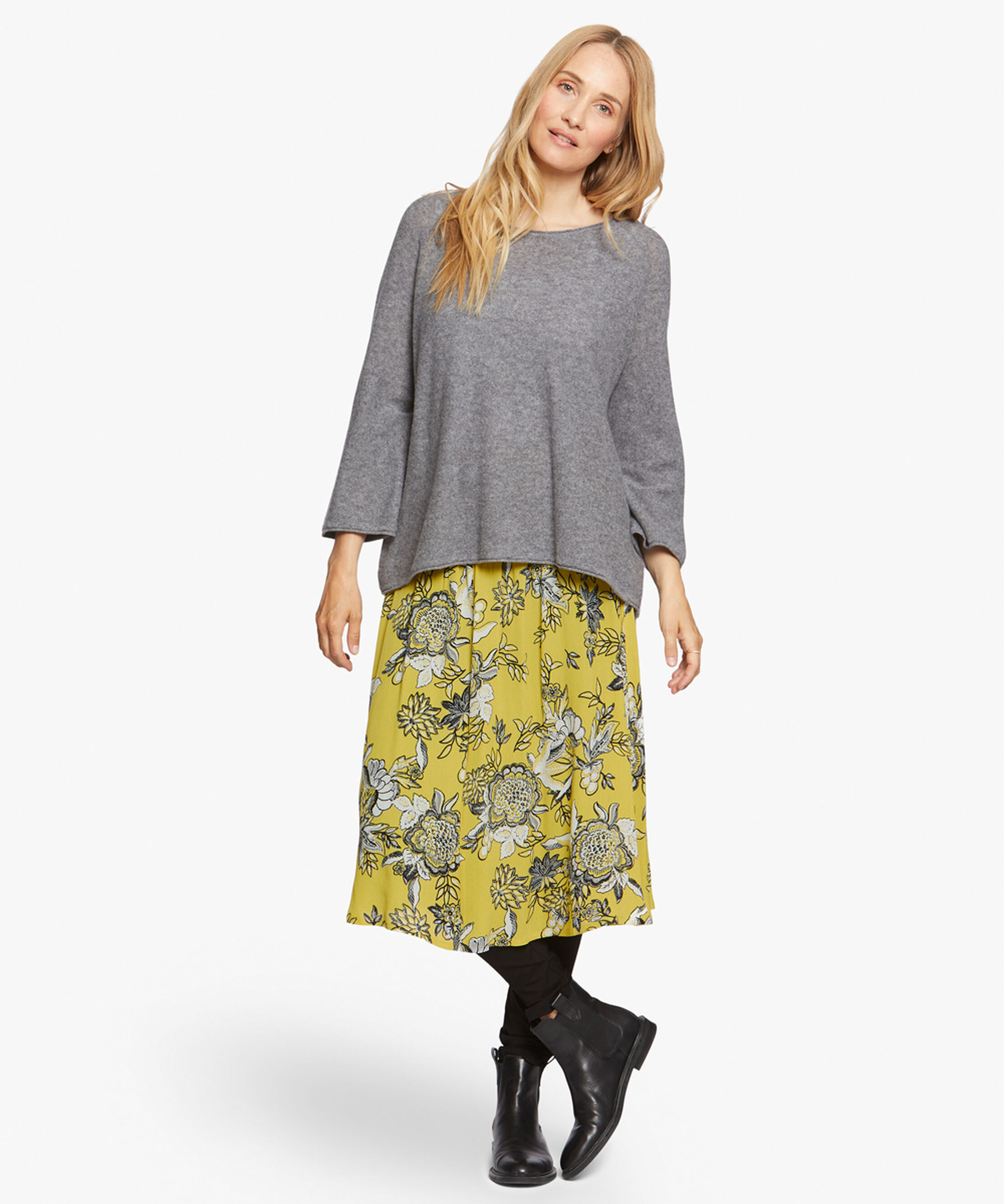 SONDRA SKIRT, Oil Yellow, hi-res
