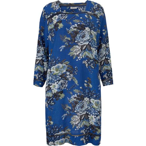 NASIRA DRESS, GREEK BLUE, hi-res