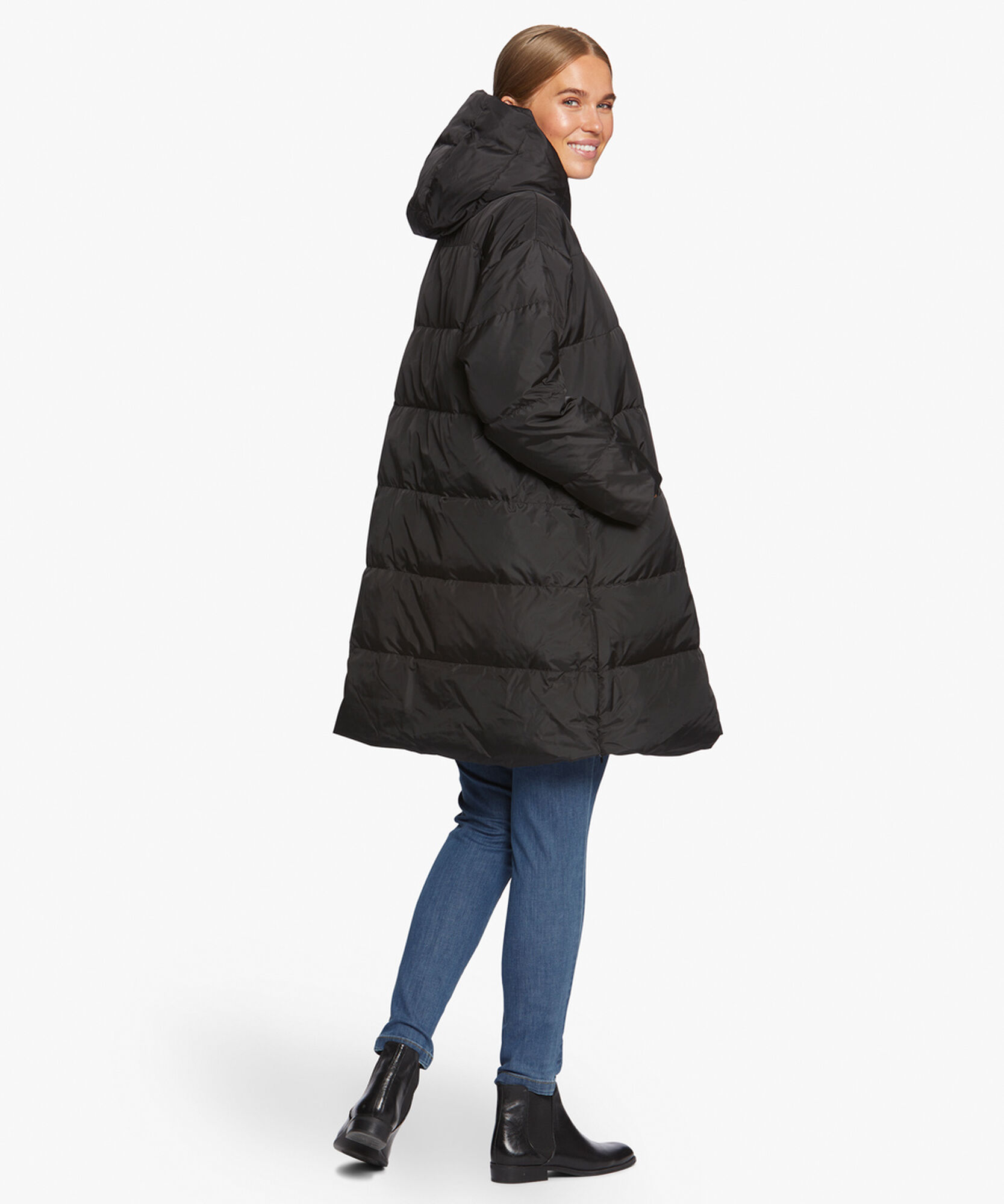 THILDE COAT, Black, hi-res