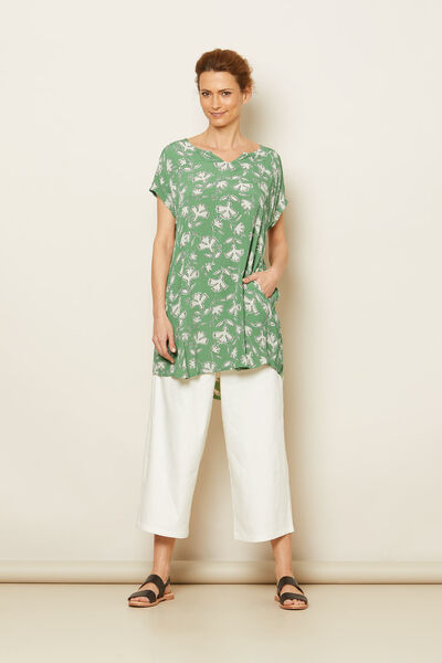 GELMA TUNIC, Stone Green, hi-res