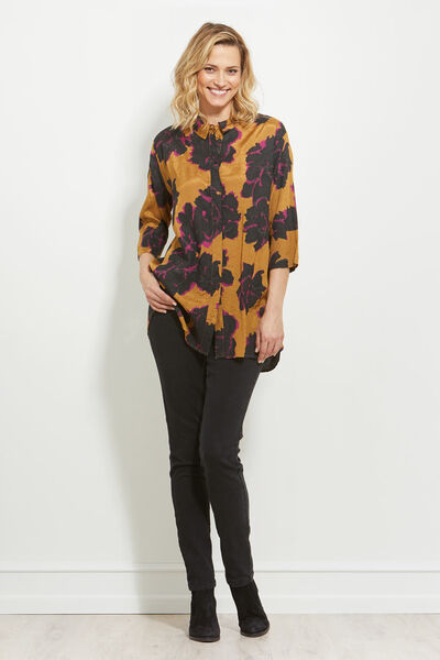INDRASSI BLOUSE, GINGER, hi-res