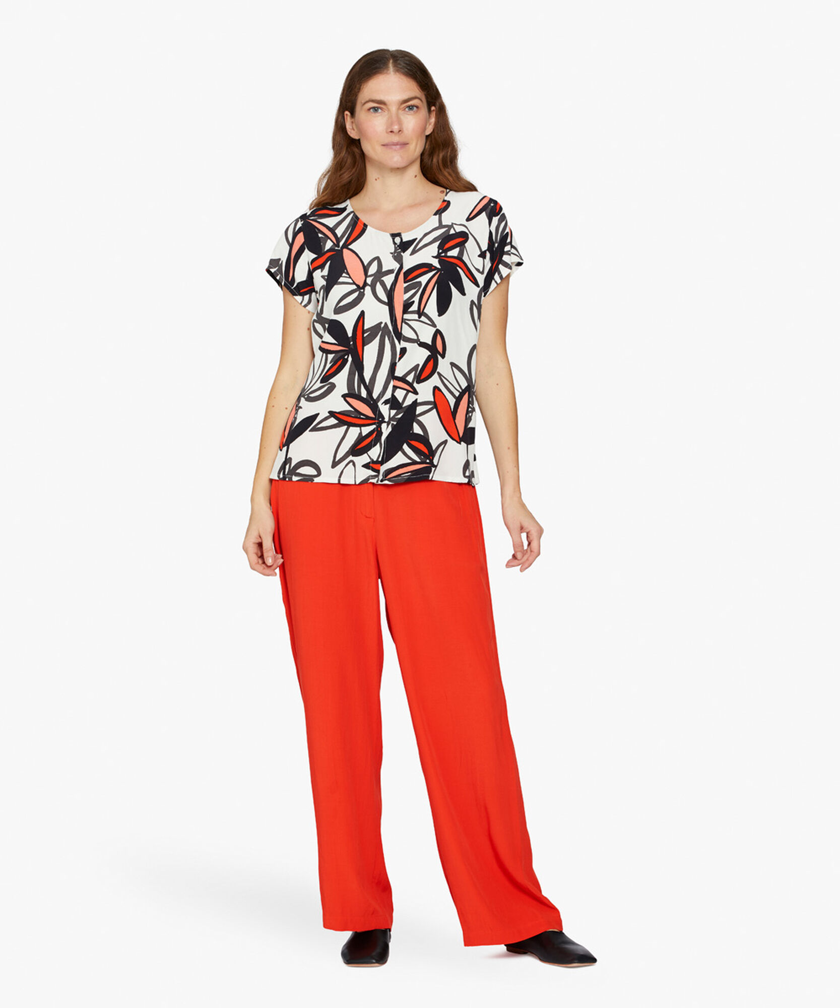 PERINUA TROUSERS, Valient Poppy, hi-res