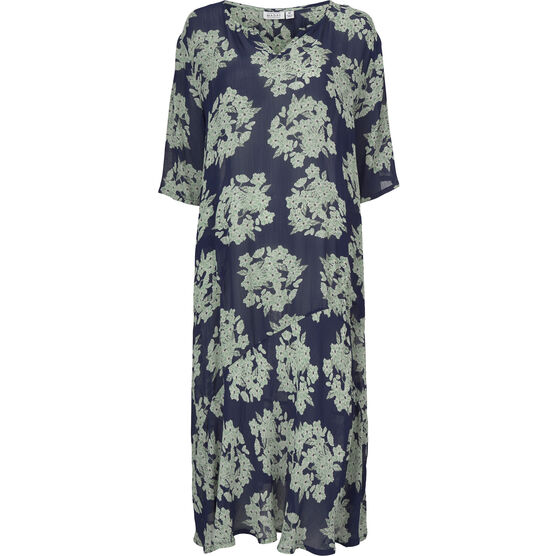NATANIA DRESS, Medieval blue, hi-res