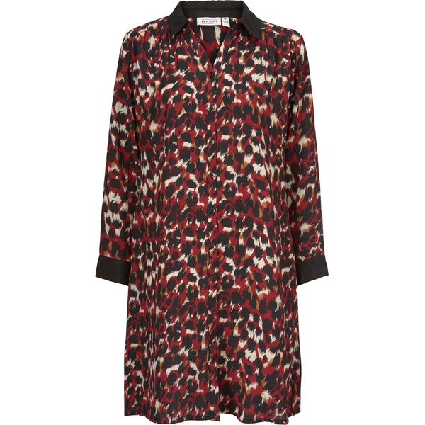 NININI SHIRT DRESS, RIO RED, hi-res