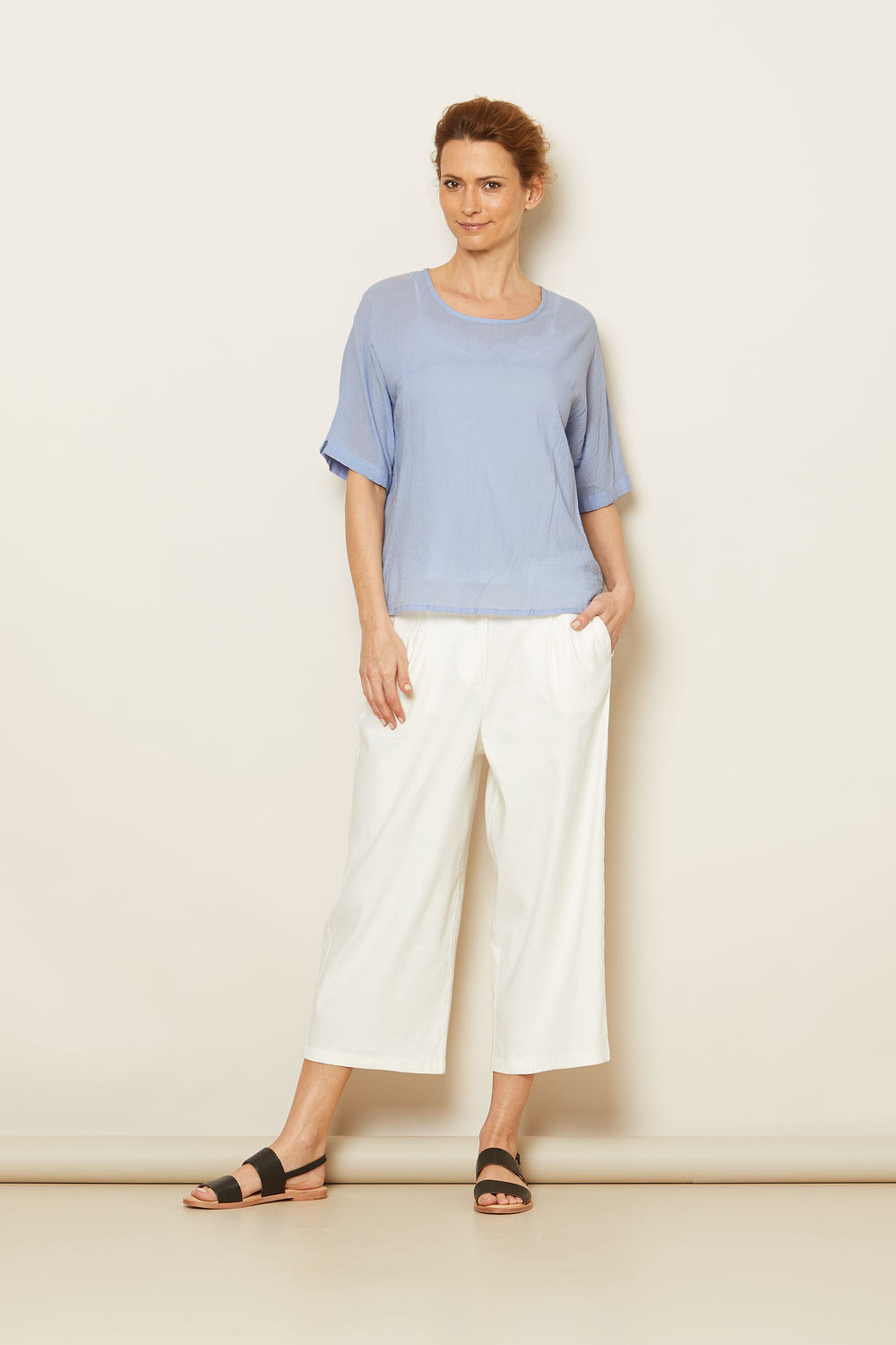PAOLA TROUSERS, Cream, hi-res