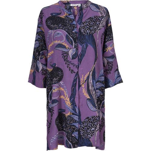 NIMES SHIRT DRESS, VIOLET, hi-res