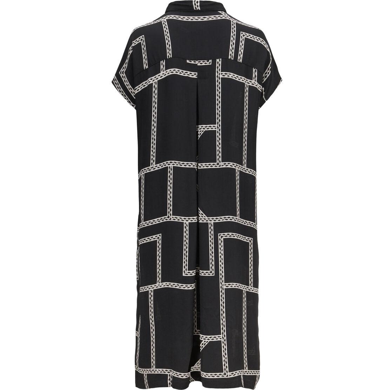 NELLA SHIRT DRESS, Black, hi-res