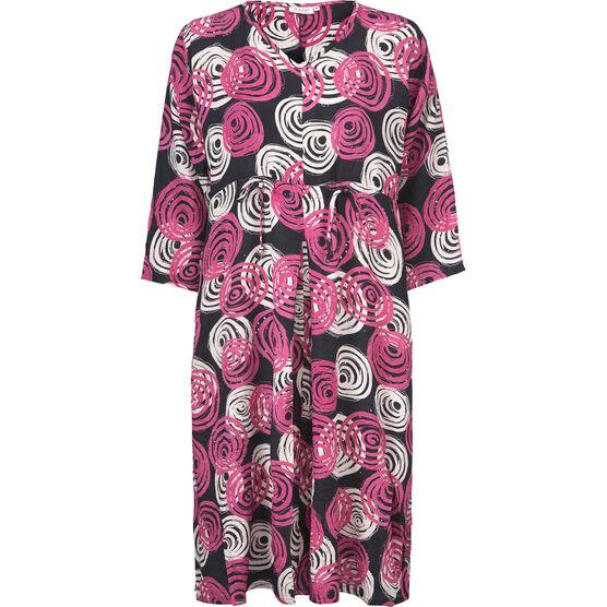 NORINAI DRESS, PINK ORG, hi-res