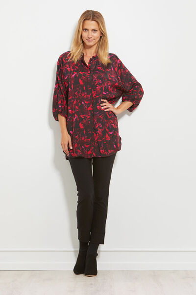 IZA BLOUSE, RUBY, hi-res