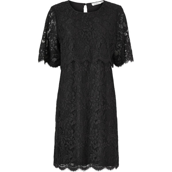 NENSA DRESS, BLACK, hi-res