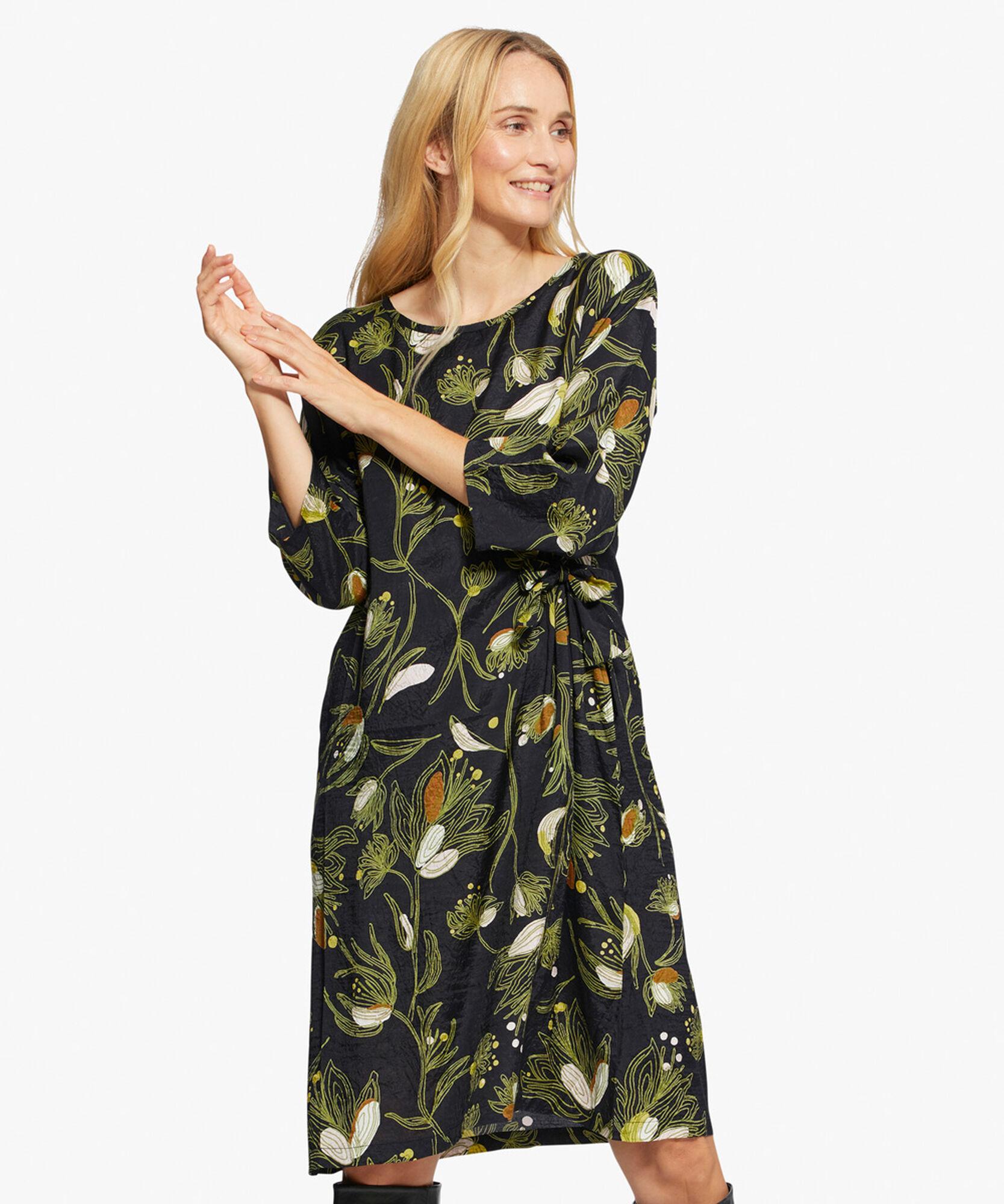 NONIE DRESS, Green Sheen, hi-res