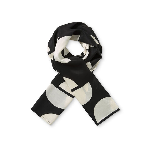 ALONG SCARF, BLACK ORG, hi-res