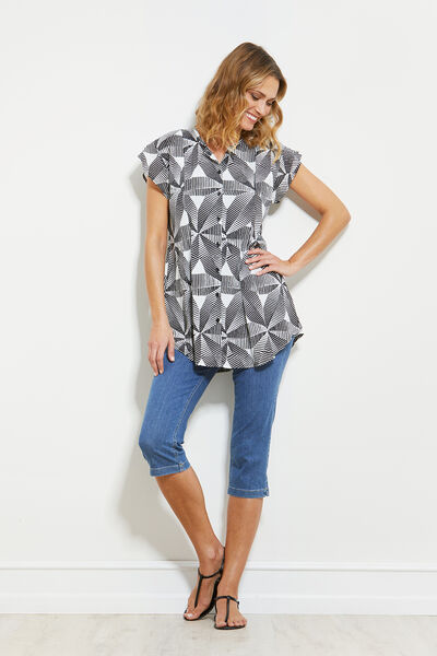 IBIA BLOUSE, BLACK, hi-res