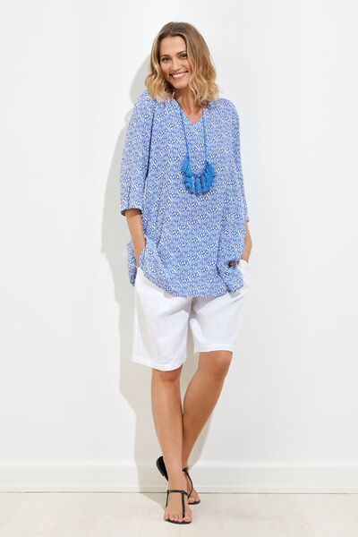 GHILA TUNIC, BLUE, hi-res