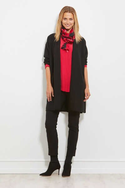 Luca cardigan, BLACK, hi-res