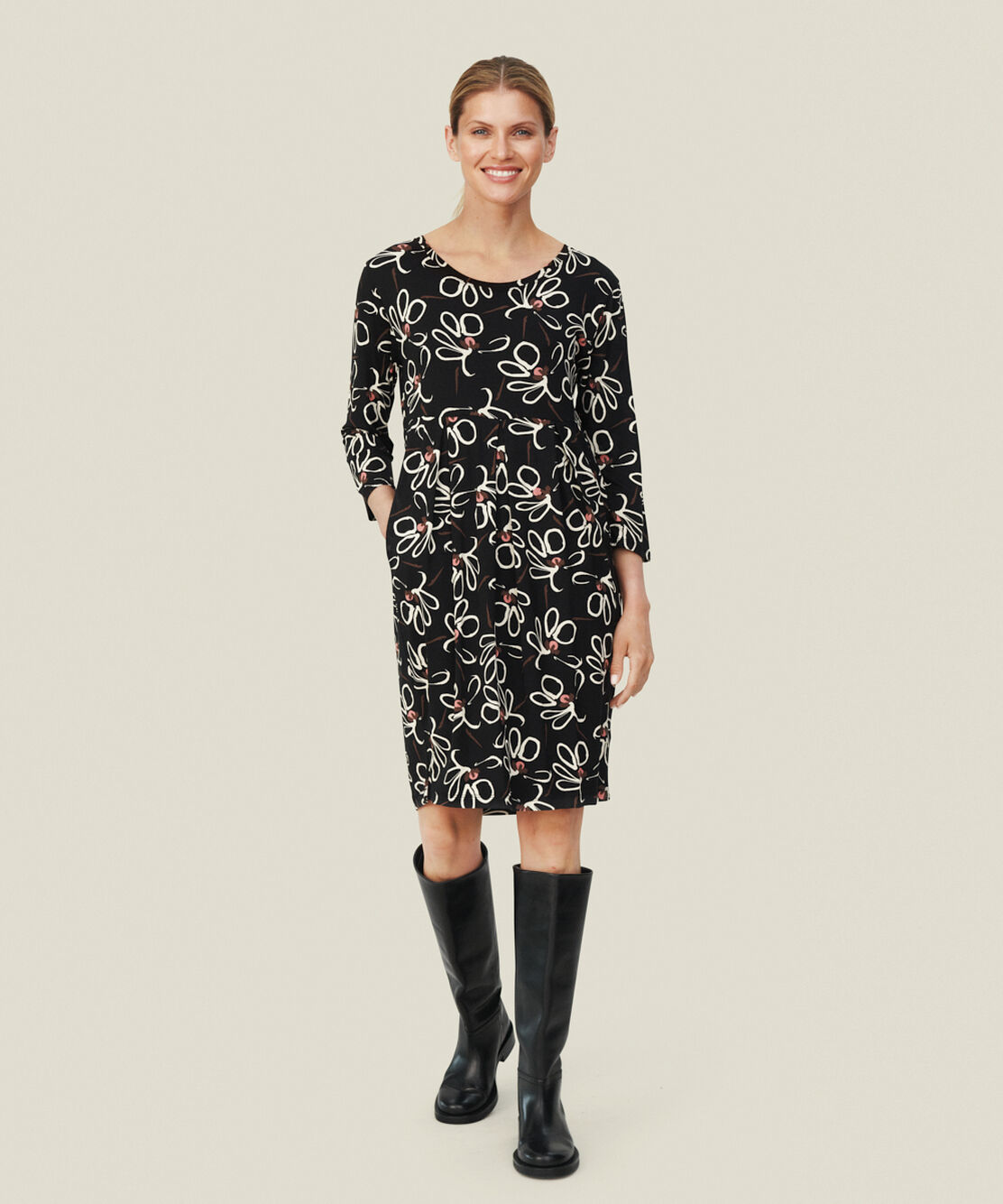 NOMA JERSEY DRESS, Dusty Rose, hi-res