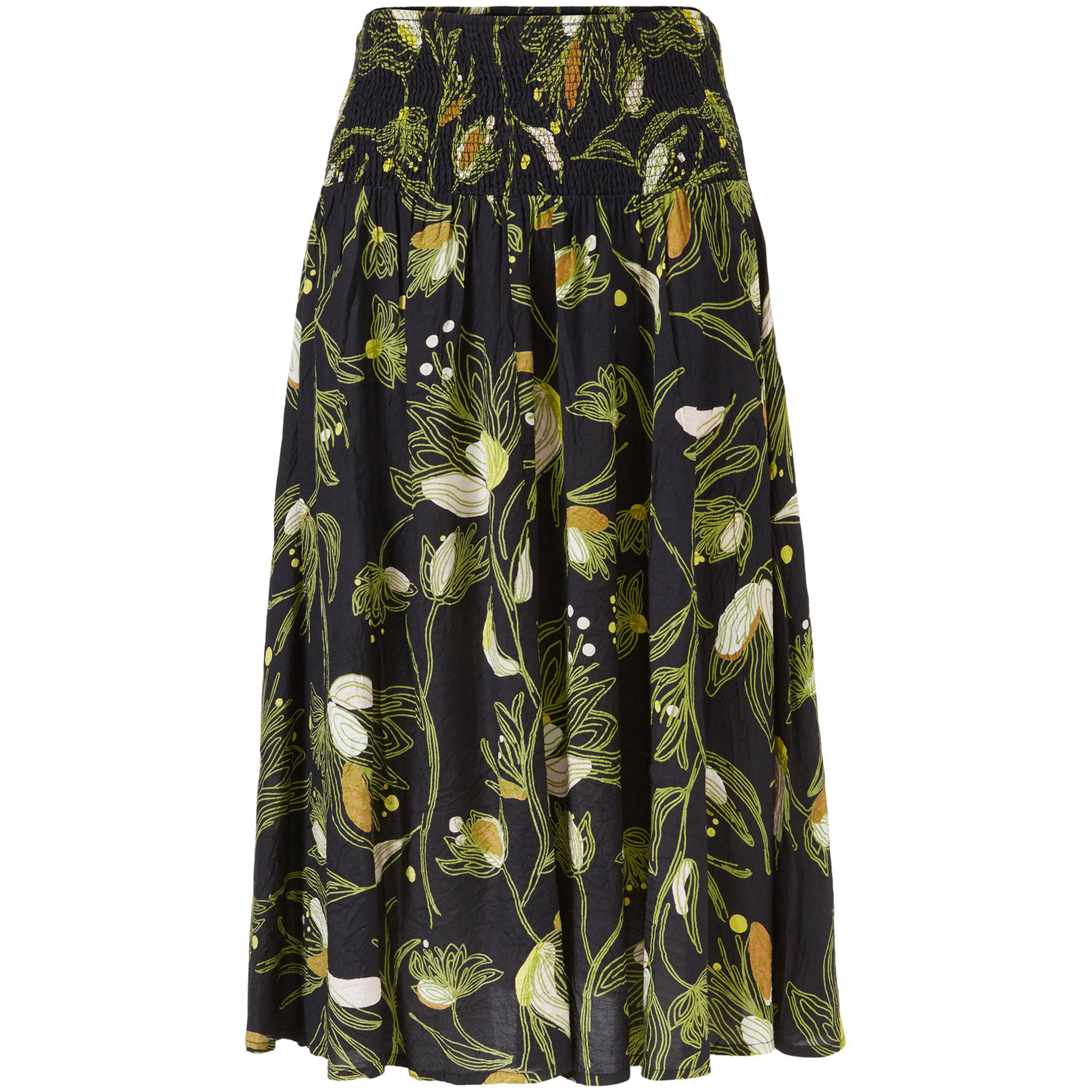SONDRA SKIRT, Green Sheen, hi-res